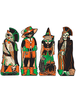 Vintage Halloween Fanci-Dress Cutouts 17""