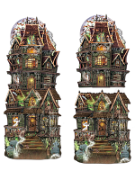 Jumbo Haunted House Cutouts 24½""
