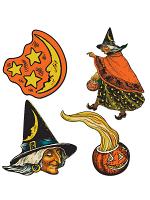 "Vintage Halloween Cutouts 6½"" - 10½"""