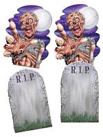 Jumbo Tombstone & Zombie Cutouts