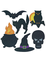"Halloween Silhouettes 8¾""-12½"""