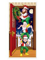 "Christmas Elves Door Cover 30"" x 5'"