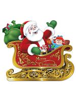 """Santa In Sleigh Cutout 24¾"""" x 29"""""""