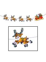 Santa & Sleigh Streamer 8'