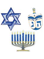 """Hanukkah Cutouts 9½"""""""