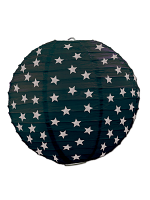 Star Paper Lanterns - Black & Silver