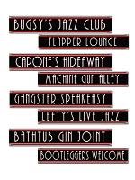 Gangster Street Sign Cutouts