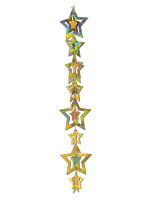 3-D Prismatic Star Gleam Hanging Garland