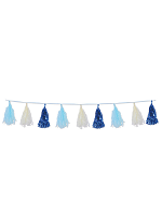 "Metallic & Tissue Tassel Garland 9¾"" x 8'"