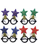 Glittered New Year Star Bopper Glasses 1 Per Package