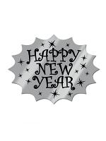 Silver Foil Happy New Year Cardboard Cutout