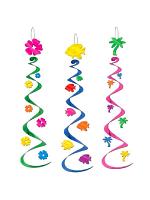 Luau Hanging Whirl Decoration