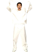 Lunatic Inmate Costume, Straight Jacket Top And Trousers  (12345)