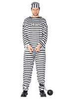 Deluxe Convict With Trousers, Top And Hat