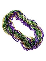 Metallic Mardi Gras Party Beads  (3 lenghts of Beads per unit )
