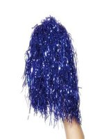 Blue Pom Poms -sold in pairs- Metallic. A Fun Novelty Item