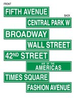 New York City Street Name Cutouts Printed Both Sides (4 in a pack)