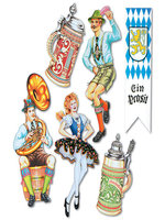Oktoberfest Cutouts Printed Both Sides