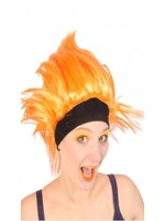 Orange Wig with Headband