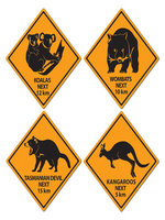Australian Outback Road Sign Cutouts