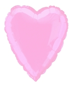 Foil Balloon Heart Solid Metallic Pastel Pink