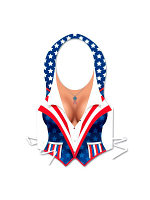 Plastic Female USA Patriotic Vest