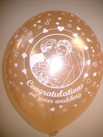 Balloons 'CONGRATULATIONS ON YOUR WEDDING' Ivory 12""