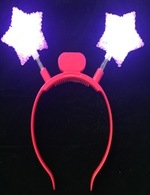 Flashing Pink Star Headbopper