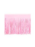 Pink Tissue Fringed Drape