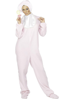Adult Baby Romper Suit - Pink - Includes Large Dummy