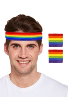 Rainbow Pride Sweatband Set