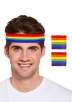 Rainbow Pride Sweatband Set