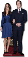 Prince William and Kate Middleton Lifesize Cardboard Cutout