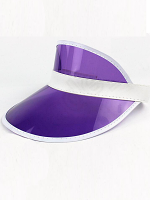 Clear Purple Plastic Dealer's Visor