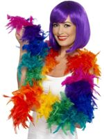 Rainbow Pride Feather Boa