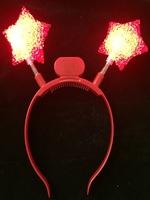 Flashing Red Star Headbopper