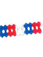 Red, White & Blue Tissue Garland