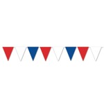 Red, White & Blue Triangle Pennant Bunting