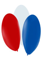 "Balloons Standard 12"" Red/White/Blue"