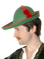 Robin Hood Hat - Green Felt - Adult