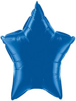 Foil Balloon Star Solid Metallic Royal Blue