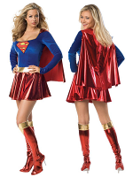 Super Girl Gold Costume (Licensed)