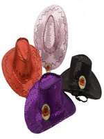 Sequin Cowboy Hats Assorted Colours