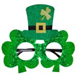 Shamrock Glitter Hat Glasses