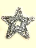 Silver Tinsel Star