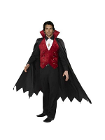 Vampire Costume Black and Red