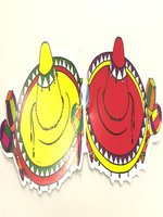 Mexican Paper Garlands 'Sombreos With Maracas' 3 Meters in Length (1)