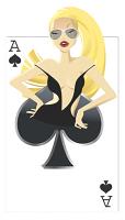 Spades Babe Cardboard Cutout