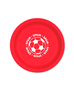 "Spain Football 9"" Plate ( 8 plates per pack)"