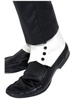 SPATS,WHITE,Pair,With Elastic,Headercard (1)